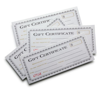 Artisan Spa Gift Certificates